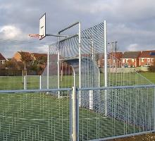 MUGA with curved goal and low level sides