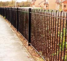Bowtop Fencing with RSJ posts