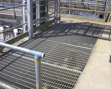 Industrial Steel Flooring Steel Floor Plates Open Mesh