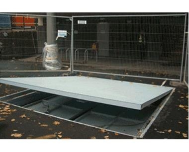 biomass storage access cover