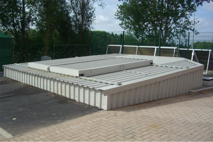 biomass storage access system
