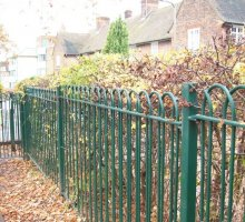 Diamond Interlaced Bowtop Fencing - School Fencing