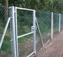 Chainlink Fencing with concrete posts - School Fencing