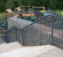 Raked Play Bowtop - Playground Fencing