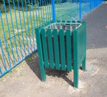 Queensgate Litter Bin - Street Furniture