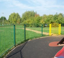 Play Bowtop fencing and gate - Playground Fencing