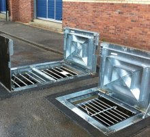 Defender Stamplock with heavy duty anti slip coating - Hinged Access Covers