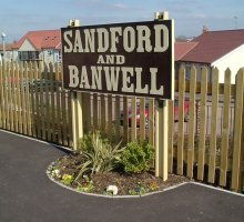 Sandford and Banwell Sign - Heritage Railways