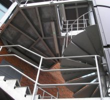 SPIRAL Fire escape  - Architectural Metalwork