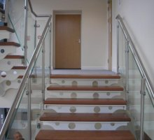 Feature Staircase with Glass Balustrade - Commercial Staircases