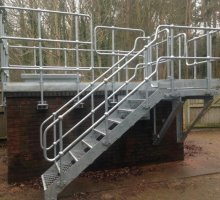 Hand rail and steel staircase - Industrial Access Metalwork