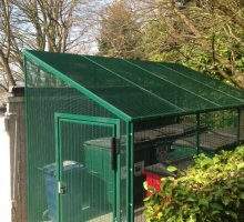 Heavy Duty Steel Cycle - Bin Compound - Security Fencing