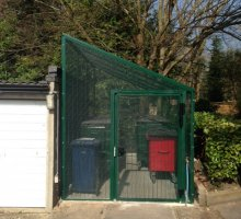 Heavy Duty Steel Cycle - Bin Enclosure - Security Fencing