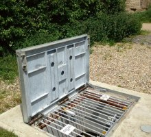 Prolift Stamplock with pull through grids - Hinged Access Covers