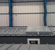 Sliding roof hatch - Biomass Fuel Storage