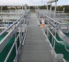 Steelway Platform - walkway - rectangular pattern open mesh / grating  - Industrial Access Metalwork