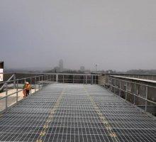 Rectangular pattern steel flooring - grating  - Industrial Access Metalwork