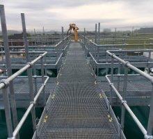 Steel access walkway platform & Handrail   - Industrial Access Metalwork