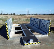 Upstand Multiple with walkway covers anti slip coated - Bespoke Access Covers
