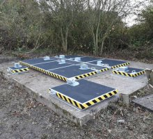 Upstand Multiple with walkway covers anti slip coated - Hinged Access Covers