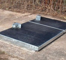 Upstanding with Anti-Slip Coat - Hinged access cover  - High Security Access Covers