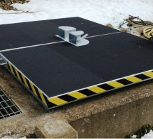 Upstanding Wet Well - Hinged access cover  - Specialist Hinged Access Covers