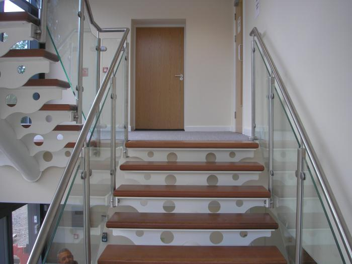 Feature Staircase With Glass Balustrade