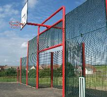 MUGA with square goal and low level sides - MUGA / Multi Use Games Areas