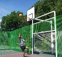 MUGA with V back goal and 3.0m high sides - MUGA / Multi Use Games Areas