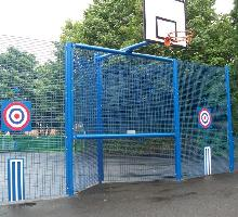 MUGA junior goal special with targets and 3.0m high fencing - MUGA / Multi Use Games Areas