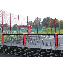 MUGA special curved goal wall - MUGA / Multi Use Games Areas