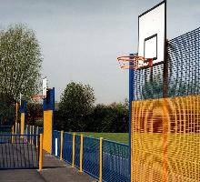 MUGA with flat goal infill and basketball  - MUGA / Multi Use Games Areas