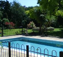 Bowtop Fencing around private swimming pool - Residential Fencing