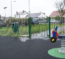 Flat Top Fencing - Playground Fencing