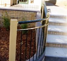 Flat Top Fencing with handrail - Steel Railings