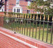 Vertical bar fencing with finials  - Steel Railings
