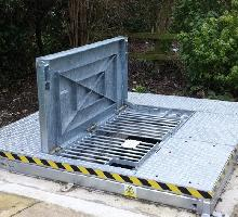 Stamplock within raised lift off covers - Solid Top Access Covers