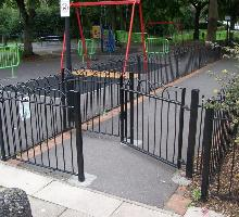 Interlaced Bowtop Kissing Gates - Steel Gates and Barriers