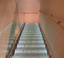 Bespoke Glass and Steel Staircase