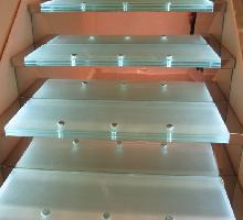 Bespoke Glass and Steel Staircase - Architectural Metalwork