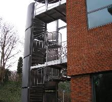 External spiral staircase / fire-escape  - Architectural Metalwork
