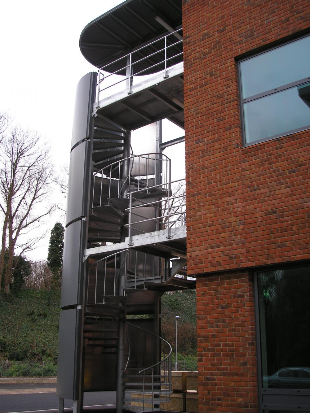 spiral fire escape stairs