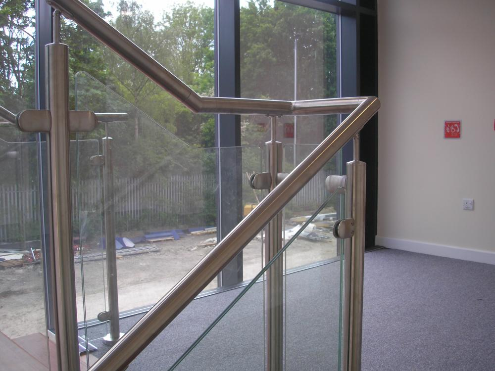 Stainless Steel Handrail & Glass Balustrade