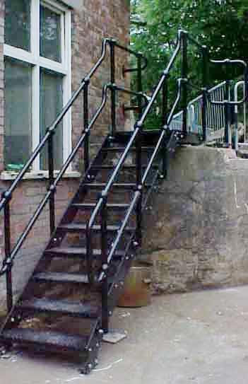 Steel Fire escape stair