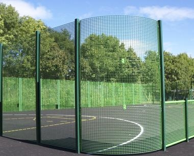 Curved Corners MUGA fencing