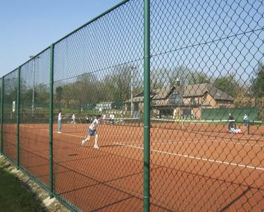 Two Rail Tennis Court Fencing
