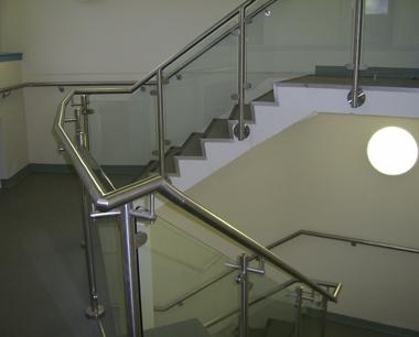 Steel Handrail with glass infill
