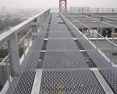 Industrial Steel Flooring Open Mesh Flooring Metal