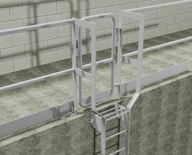 Vertical Ladder with safety gates