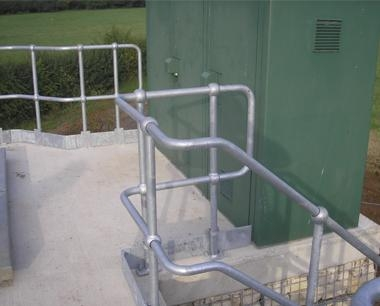 Industrial steel double line Handrail